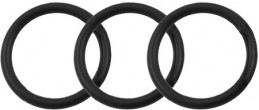 Silicone 3 Ring Kit- Black - Gallery - 001