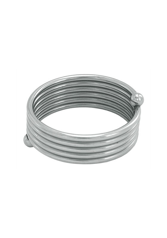 Stainless Steel Roller Cock Ring - Front