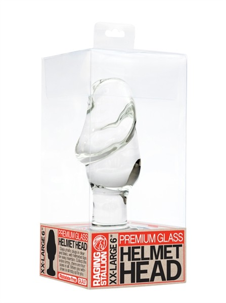Glass Penis Helmet Head Plug - Clear - Gallery - 003