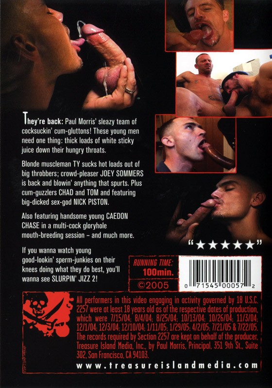Slurpin' Jizz 2 DVD - Back