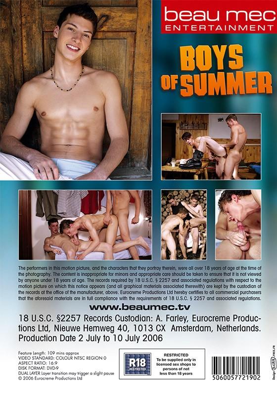 Boys of Summer DVD - Back