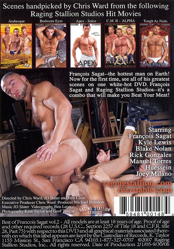 The Best of Francois Sagat volume 2 DVD - Back