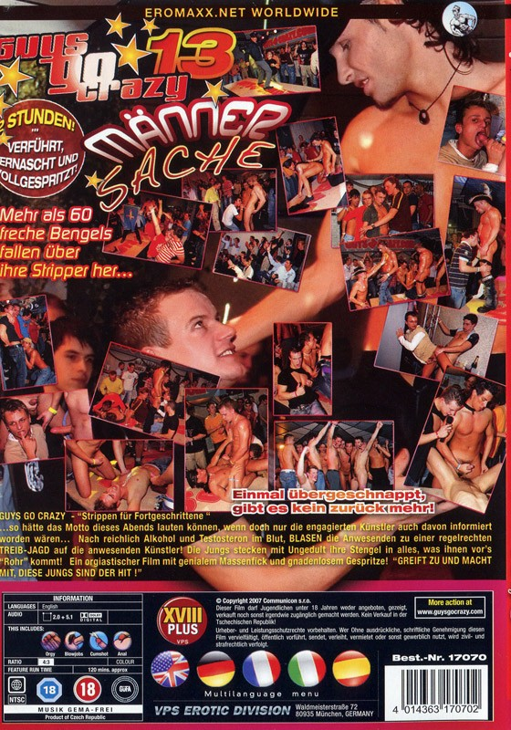 Guys go Crazy 13: Maenner Sache DVD - Back
