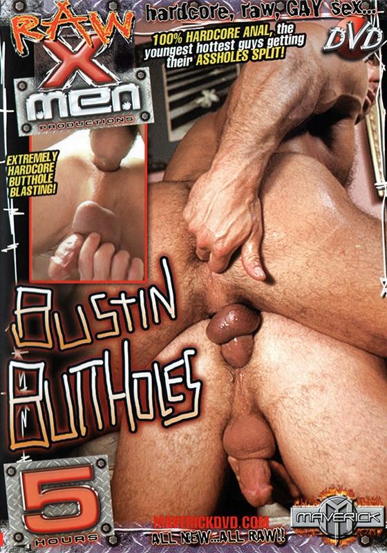 Bustin Butt Holes DVD - Front