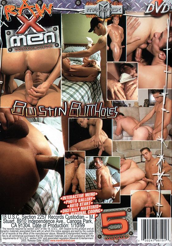 Bustin Butt Holes DVD - Back