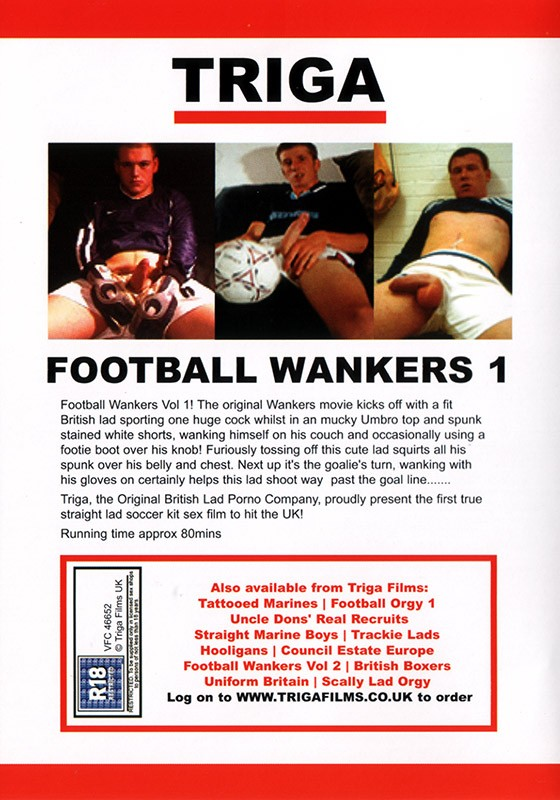 Football Wankers 1 DVD - Back