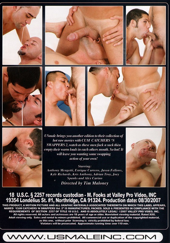 Cum Catchers 'n Swappers 2 DVD - Back