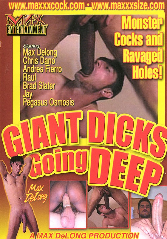 Giant Dicks Going Deep DVD - Front