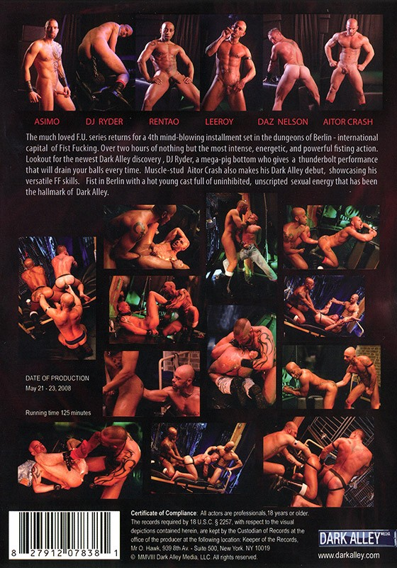 Fisting Underground Berlin part 1 DVD - Back