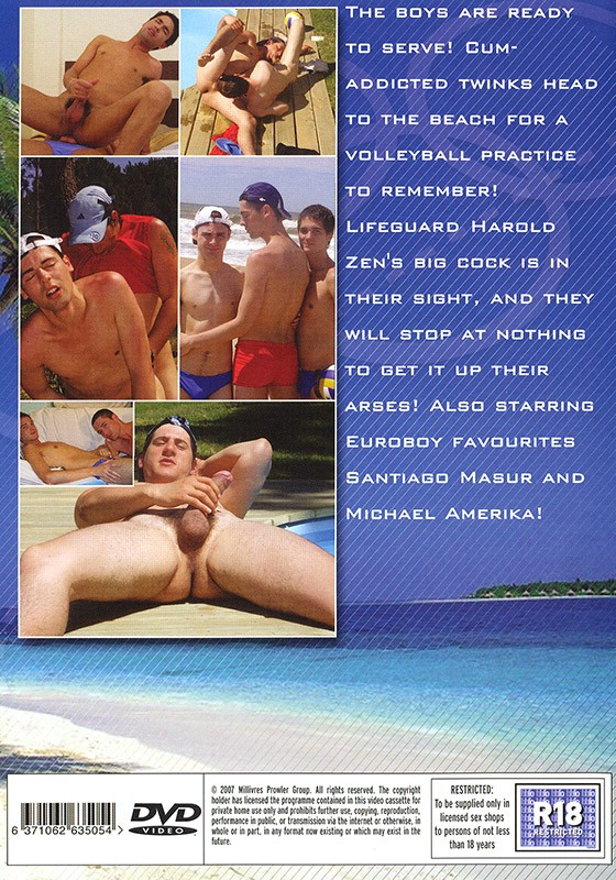 Beach Volley Boys DVD - Back