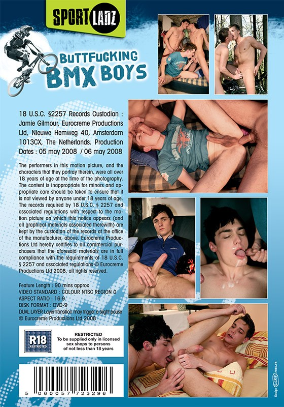 Buttfucking BMX Boys DVD - Back