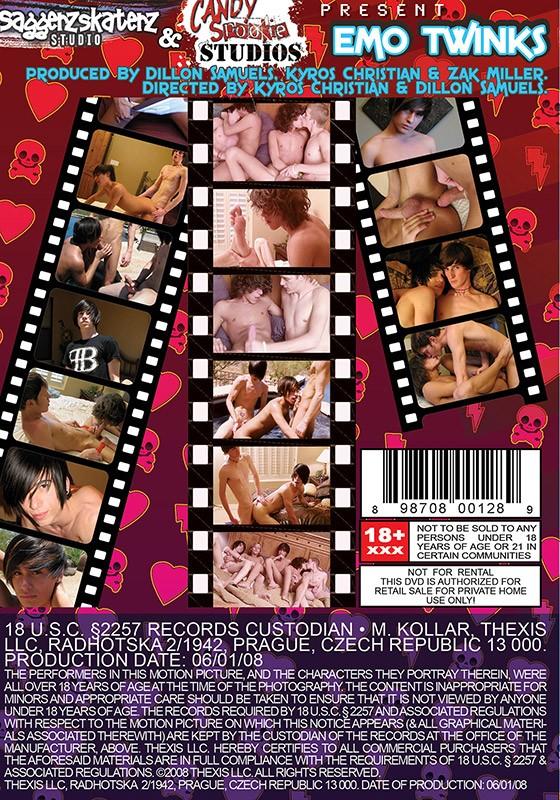 Emo Twinks DVD - Back