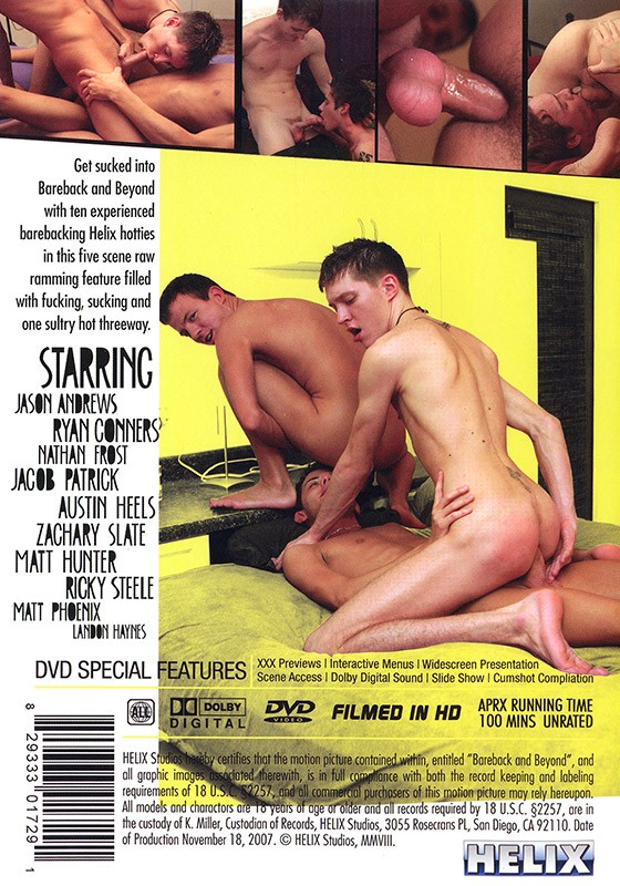 Bareback and Beyond DVD - Back