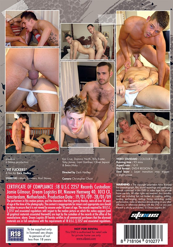 Fit Fuckers (Staxus) DVD - Back