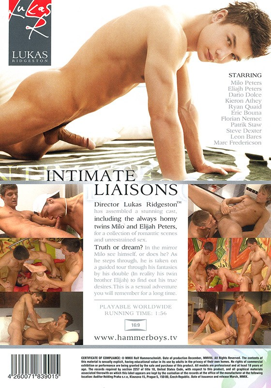 Intimate Liaisons DVD - Back