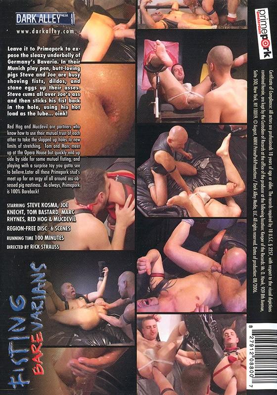 Fisting Barevarians DVD - Back