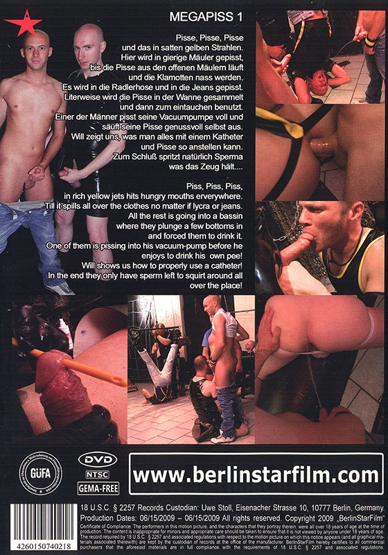 Mega Piss 1 DVD - Back