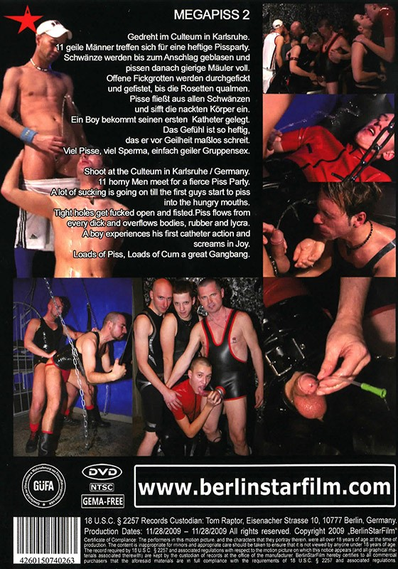 Mega Piss 2 DVD - Back