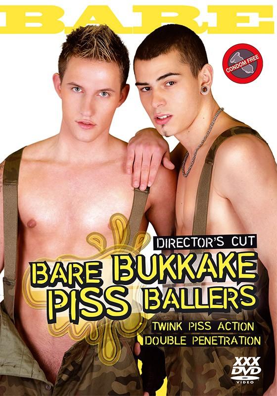Bare Bukkake Piss Ballers DVD - Front