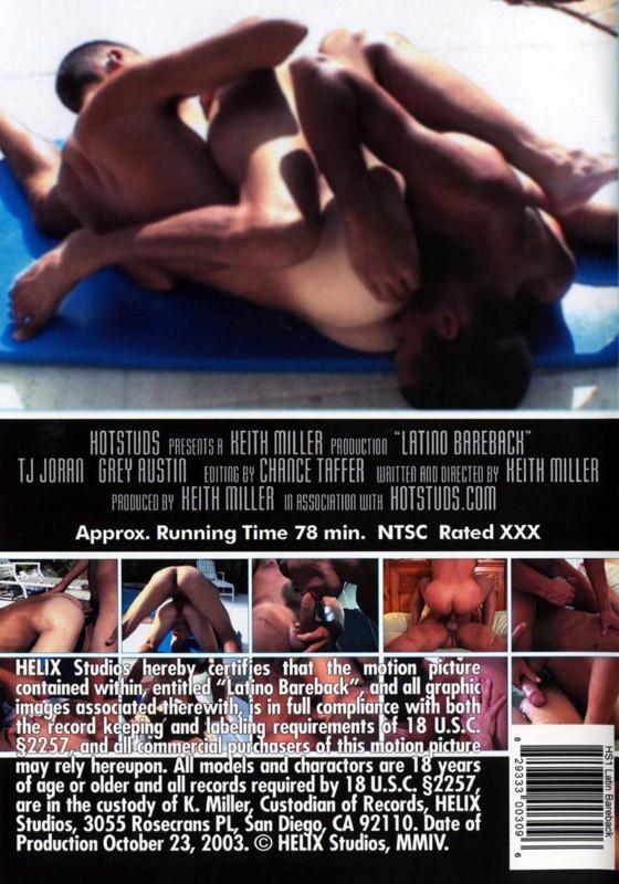 Latino Bareback DVD - Back