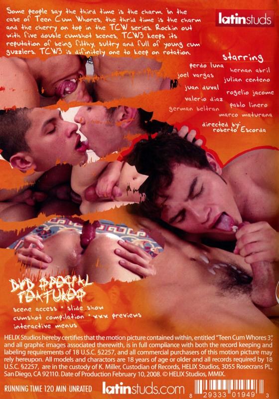 Teen Cum Whores 3 DVD - Back