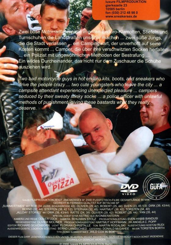 Sneaker Sex III: Sneaker Sex 2000 DVD - Back