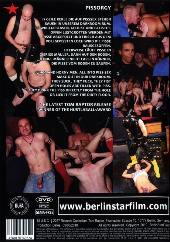 Piss Orgy DVD - Back