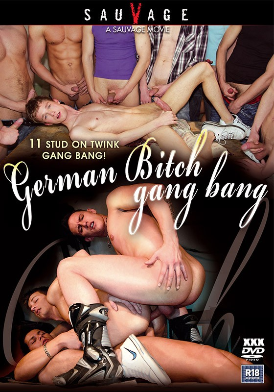 German Bitch Gang Bang DVD - Front