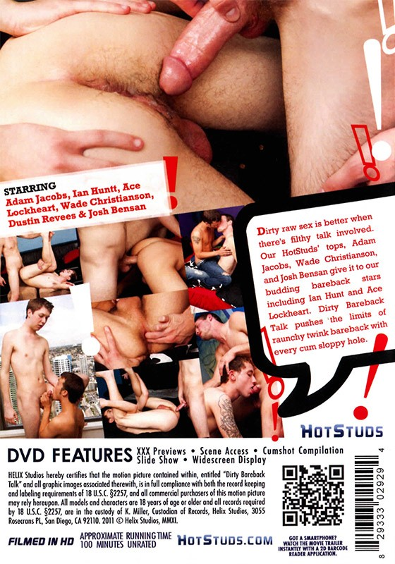 Dirty Bareback Talk DVD - Back