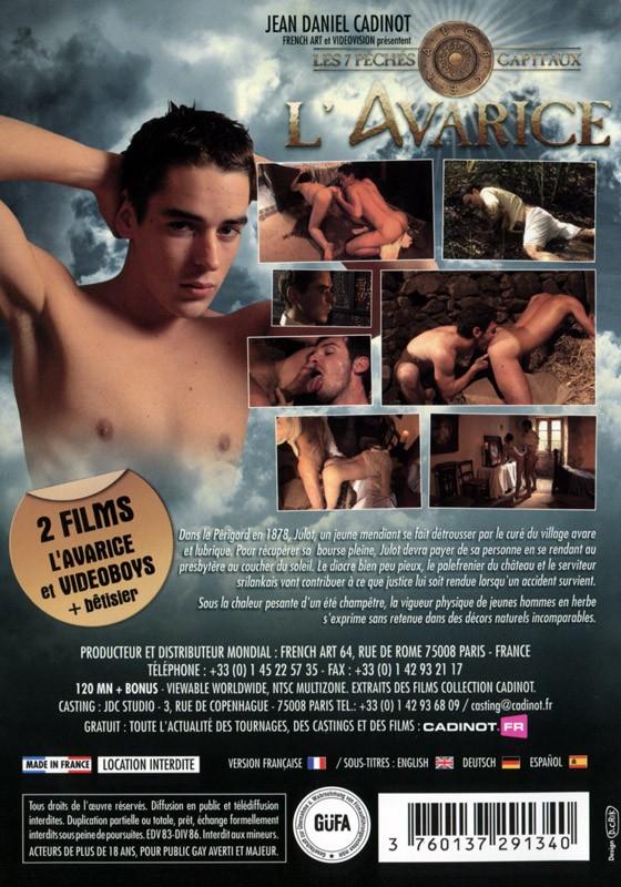 L'Avarice DVD - Back