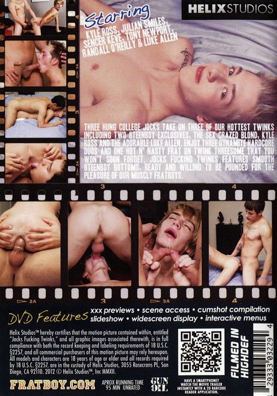 Jocks Fucking Twinks DVD - Back