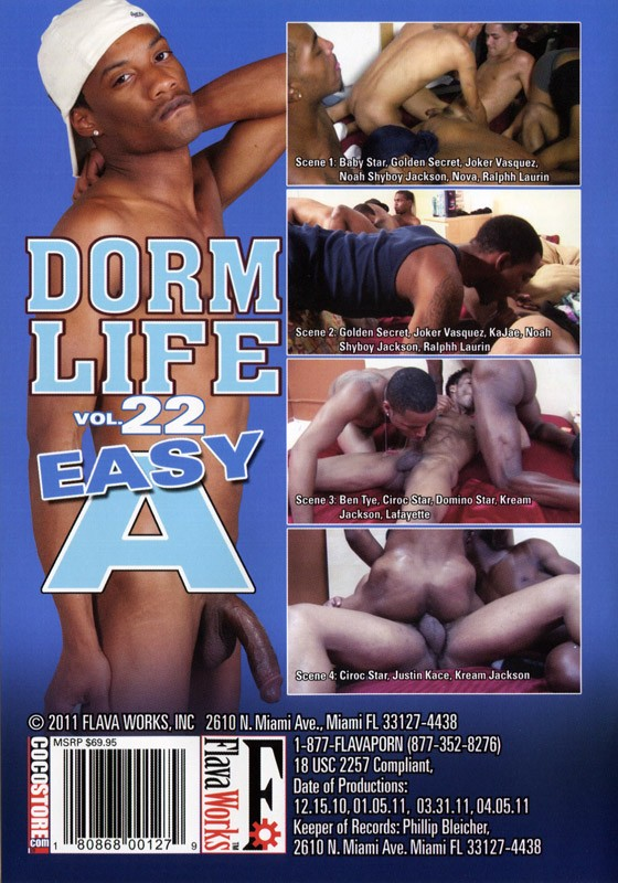 Dorm Life 22: Easy A DVD - Back