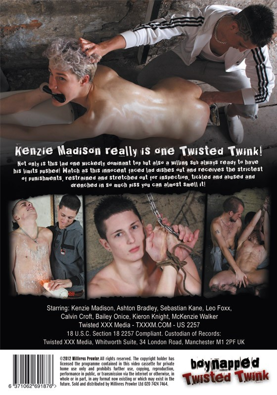 Boynapped 4: Twisted Twink DVD - Back
