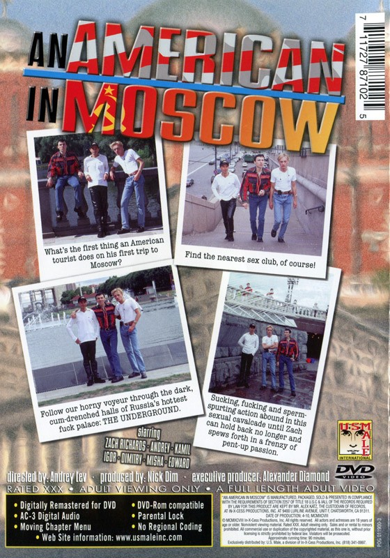An American in Moscow DVD - Back