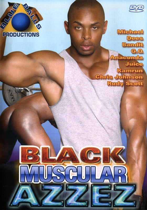 Black Muscular Azzez DVD - Front