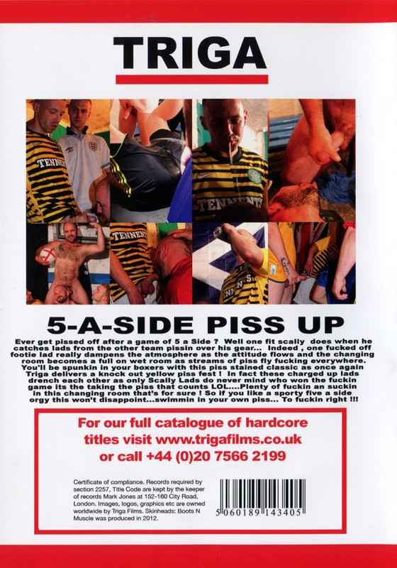 5-A-Side Piss Up Cover Back