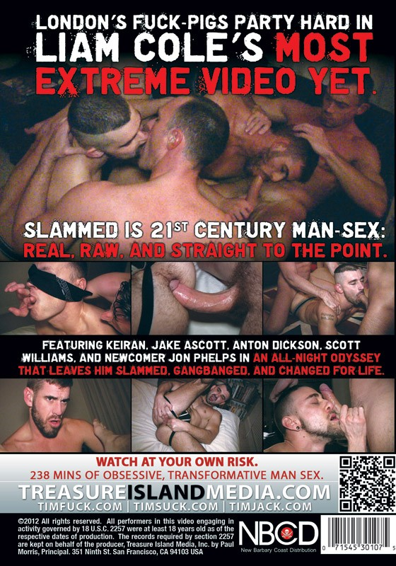 Liam Cole's Slammed DVD - Back