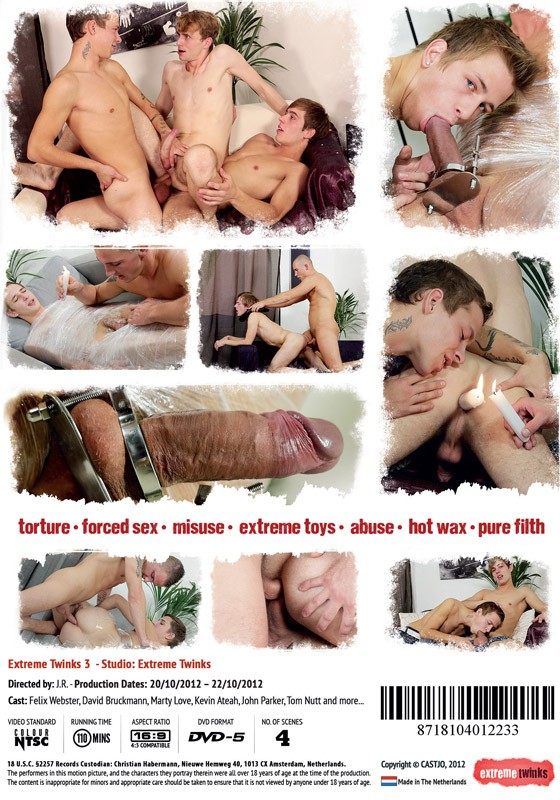 Extreme Twinks 3 (Director's Cut) DVD - Back