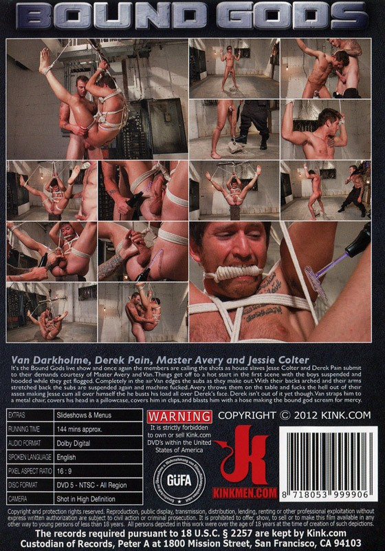Bound Gods 24 DVD (S) - Back