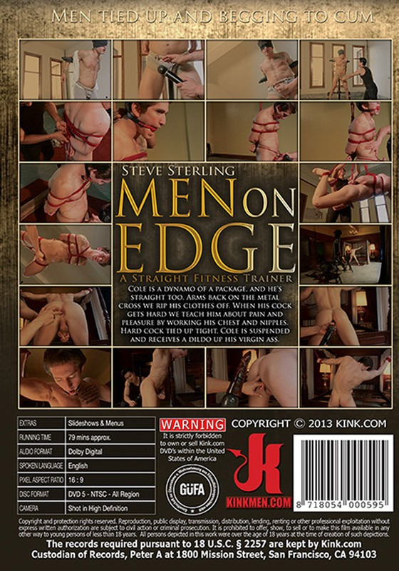 Men On Edge 1 DVD (S) - Back