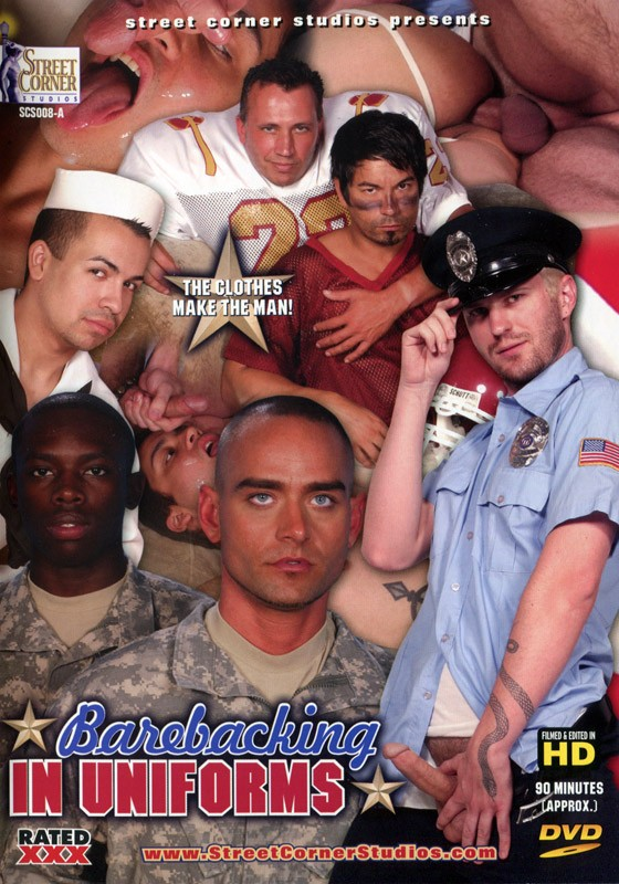 Barebacking in Uniforms DVD - Front