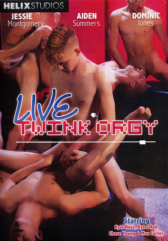 Live Twink Orgy DVD - Front