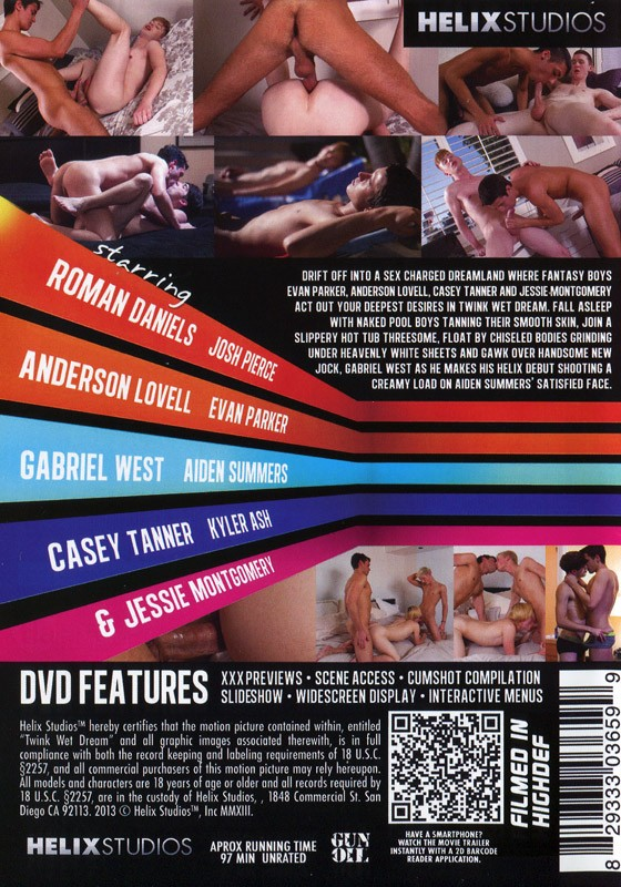 Twink Wet Dream DVD - Back