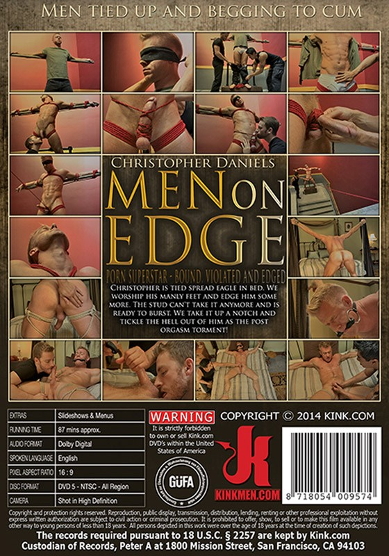 Men On Edge 15 DVD (S) - Back