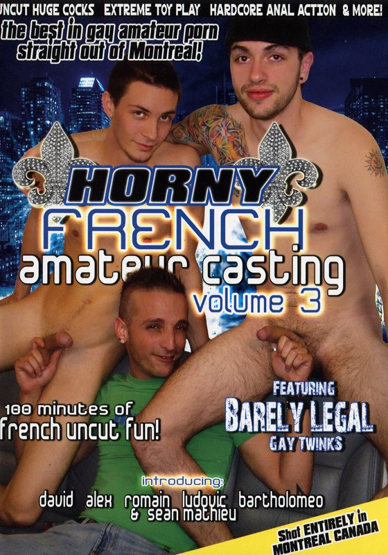 Horny French Amateurs Casting Volume 3 DVD - Front