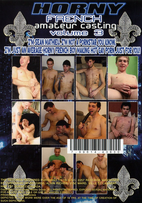 Horny French Amateurs Casting Volume 3 DVD - Back