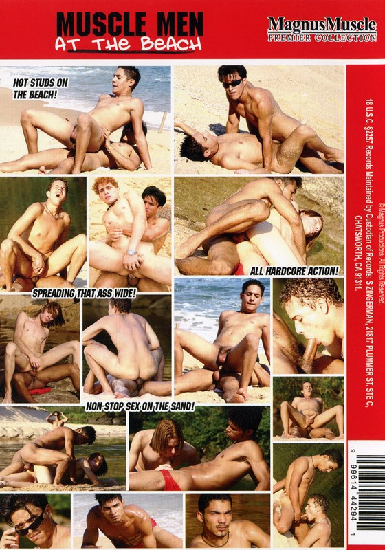 Muscle Men at the Beach DVD - Back