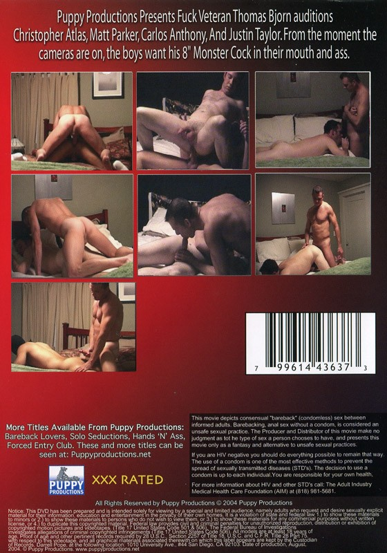Bareback Auditions Volume 2 DVD - Back