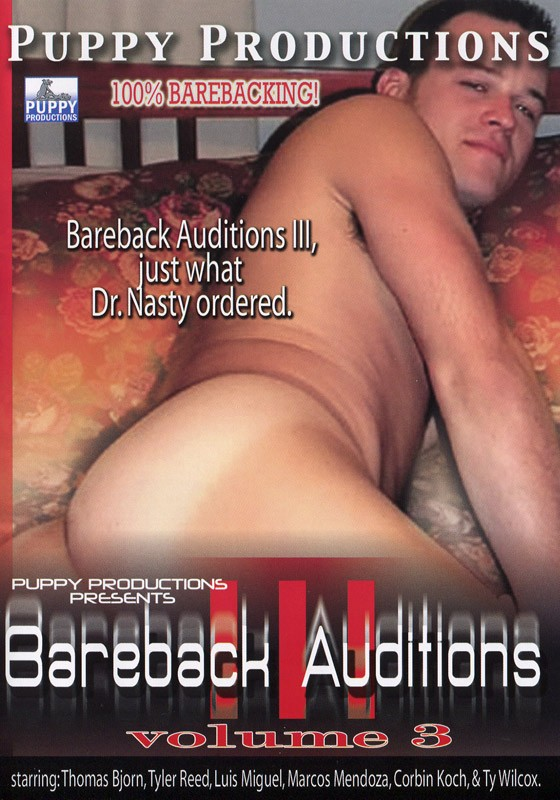 Bareback Auditions 3 DVD - Front