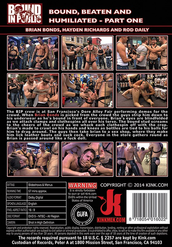 Bound In Public 68 DVD (S) - Back